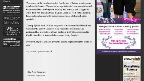 Food Awards 2011 Winner!