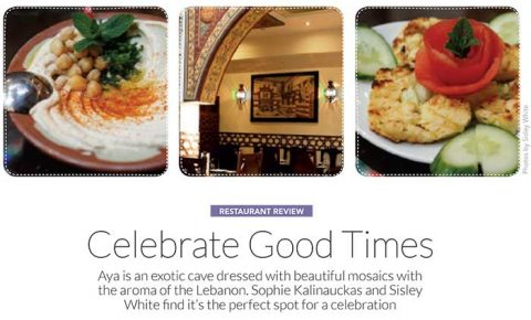 Sophie Kalinauckas Reviews Aya Lebanese Restaurant