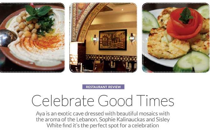 Sophie Kalinauckas Reviews Aya Lebanese Restaurant
