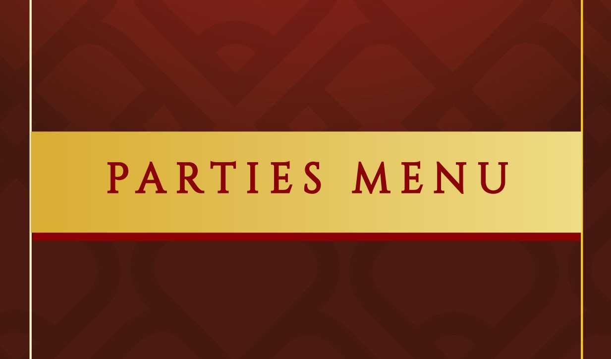 Parties Menu