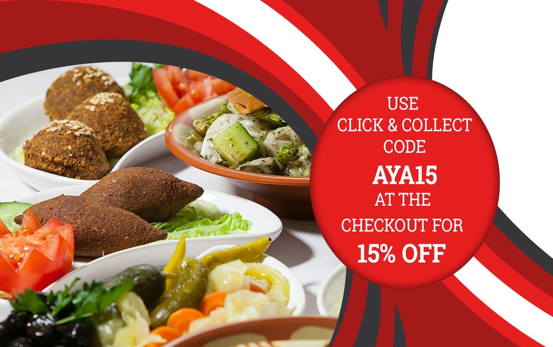 Aya 'Click & Collect' Discount!
