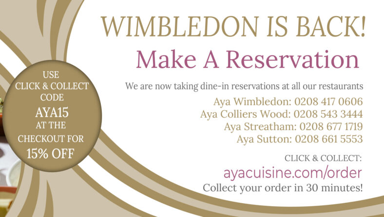 Aya Wimbledon Is Now Open!